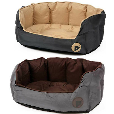 PetFace Oxford Oval Waterproof Dog Puppy Reversible Washable Bed S/M/L/XL