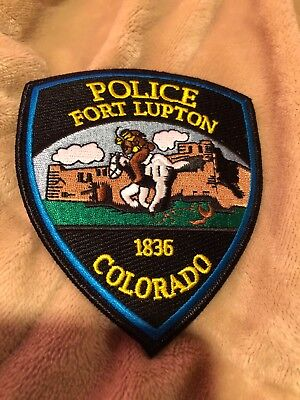 police patch Fort Lupton Colorado COLORFUL