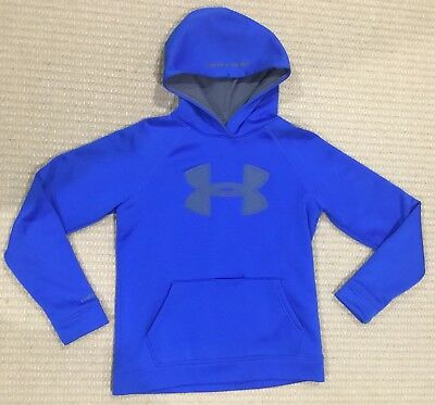 UNDER ARMOUR - Boys Blue Hooded Jumper - YLG (youth Large ( 14 )