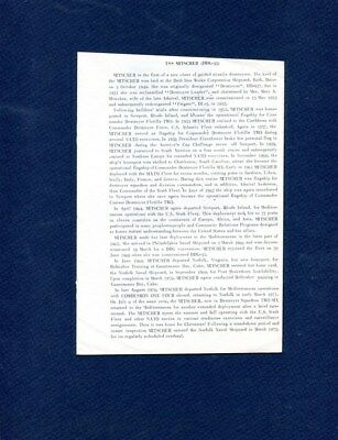 DDG-35 USS MITSHER WELCOME ABOARD Booklet US Navy Ship Squadron Pamphlet