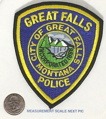 Great Falls Montana Police Shoulder Patch Unused  Fully Embroidered