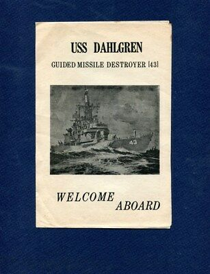 DDG 43 USS DAHLGREN WELCOME ABOARD Booklet US Navy Ship Squadron Pamphlet