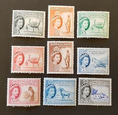 SOMALILAND Protectorate-1953 Set of 10 SG 137-145 Mounted Mint