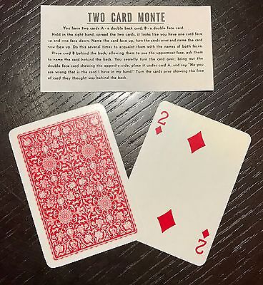 Two Card Monte Easy Pocket Magic Card Trick!