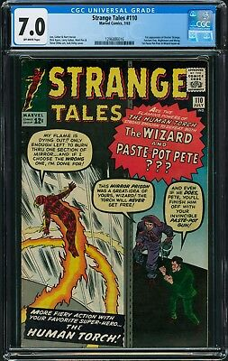 Strange Tales #110 CGC 7.0 - Off-White Pages (1st Appearance of DR. STRANGE)