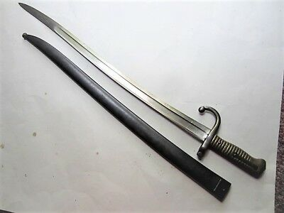 M1866 French Chassepot Bayonet With Scabbard Dated 1874