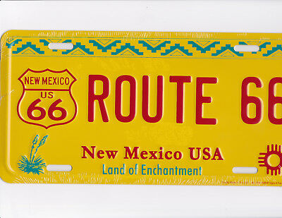 NEW MEXICO metal NM license plate ROUTE 66  made in the USA land of enchantment