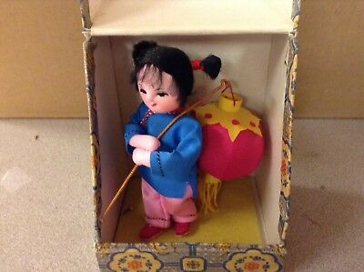 Vintage Peoples  Republic of China Doll In Box-Child