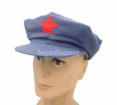 World War WWII WW2 Army Hats Chinese Red Army Militaire Military Cotton Caps L