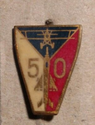 Czech Air force 50th Anniversary Commemorative Pin NICE CONDITION