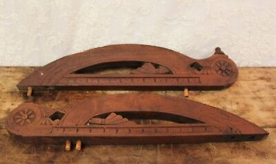 Pair Of Salvaged Antique Walnut Furniture Accent Pieces For Re purpose Projects