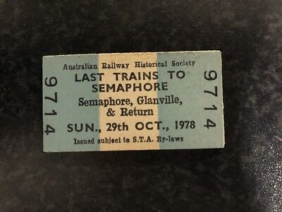 Edmondson Railway Ticket Last Trains Semaphore Glanville Return