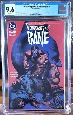 Batman Vengeance of Bane 1 CGC graded 9.6 White pages. 1st appearance of Bane
