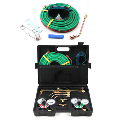 "Gas Welding Cutting Kit Oxy Acetylene Oxygen Torch Brazing 15'X 1/4"" Twin Hose"