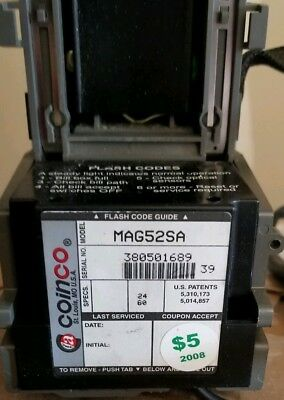 Used Coinco MAG52SA Bill Validator. THIS ITEM IS WORKING