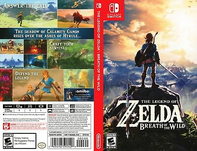 The Legend Of Zelda Breath Of The Wild (Nintendo Switch) Replacement Case