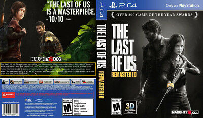 The Last Of Us Remastered (Playstation 4 Ps4) Replacement Case, No Game