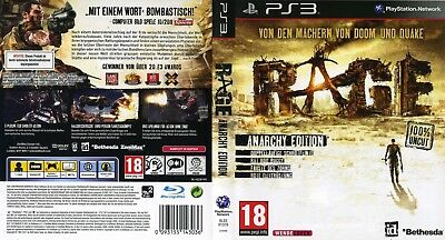 RAGE (PLAYSTATION 3 Ps3) Replacement Case, No Game