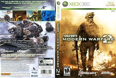 Call Of Duty Modern Warfare 2 (Xbox 360) Replacement Case