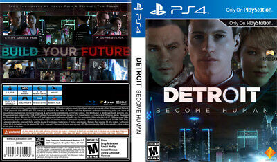 Detroit Become Human (Playstation 4 Ps4) Replacement Case, No Game