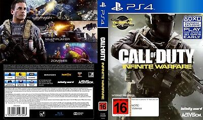 Call Of Duty: Infinite Warfare (Playstation 4 Ps4) Replacement Case