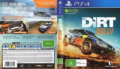 Dirt Rally (Playstation 4 Ps4) Replacement Case