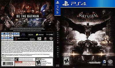 Batman: Arkham Knight (Playstation 4 Ps4) Replacement Case