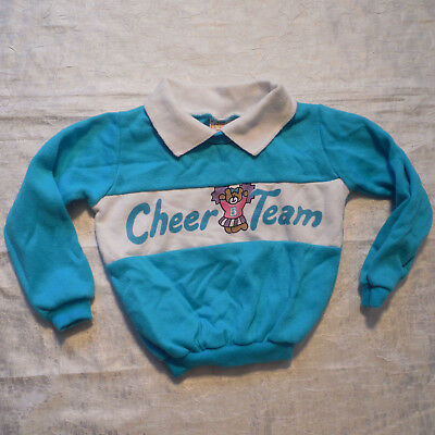 Vtg 80s Andover Togs Girls Sweatshirt 3T Toddler Sweater Cheer Team Cheerleader