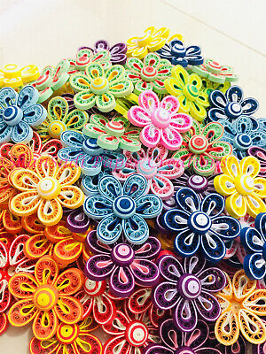 Lot 20 paper quilling flowers hand made party decoration 20 lot 20 paper quilling flowers hand made party decoration 20 flowers mightylinksfo