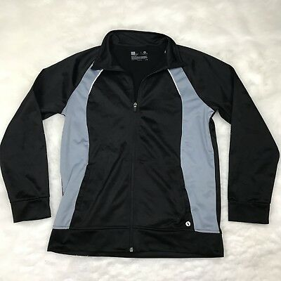 XERSION Boys Athletic Running Zip Up Jacket Size XL Black Gray Fitness