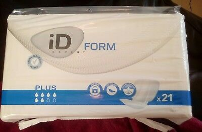 iD Expert Form  Plus (Cotton Feel) - Pack of 21 - new incontinence pads