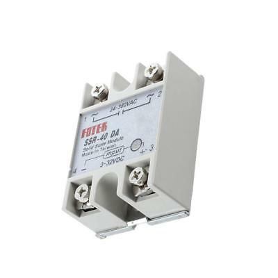 Hot SSR-25DA SSR-40DA  DC to AC Solid State Relay Alloy Heat Sink 1.Stk &l