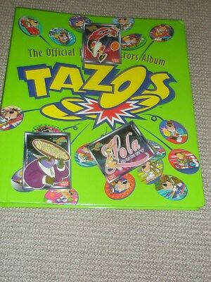 The Official Tazo Collectors Album - Complete set of Looney Toons & The Simpsons
