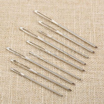 9pcs/lot Large-eye Sewing Blunt Needles 3 Size Cross Stitch w Bottle Household