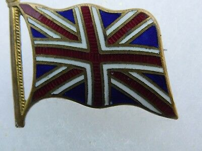 Wwi / Wwii British Flag Pin Open Catch