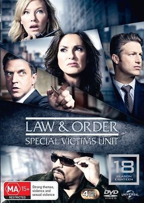 Law And Order SVU Special Victims Unit Season 18 DVD NEW Region 4