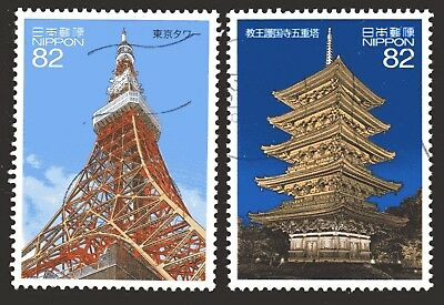 Japan 2017 82y Japanese Architecture set of 2 Fine Used