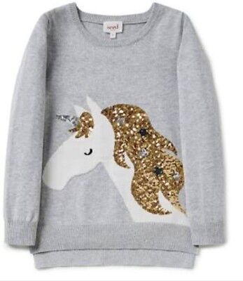 SEED - Sequin Unicorn Jumper - RRP $59.95 - Girl's Size 8