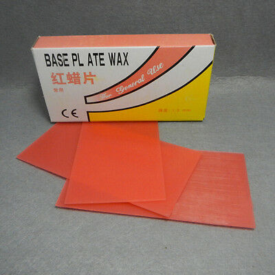 CE Red Modeling Wax for Prosthetic Dentistry Tough Dental Supplies 18 Sheets