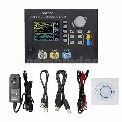 JDS2800 15-60MHz Digital Dual-Ch DDS Signal Generator Frequency Meter Arbitrary