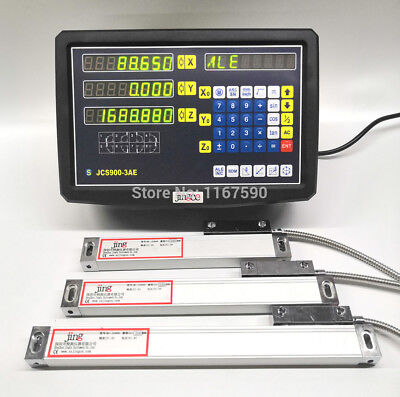 JCS900-3AE 3 Axis digital readout with 3 pcs 50-1020mm 5micron linear scale