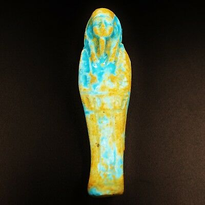 Amazing Antique Egyptian Faience Ushabti (Shabti) Statue Figure