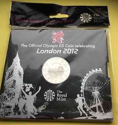 Royal mint 2012 London Olympics BU £5 coin /sealed packet.