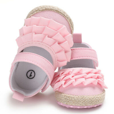 Newborn Baby Girl Soft Shoes Soft Soled Non-slip Bowknot Floral Crib Shoes 0-18M