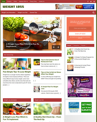 WEIGHT LOSS - Fully Featured Niche Business Website For Sale - Newbie Friendly