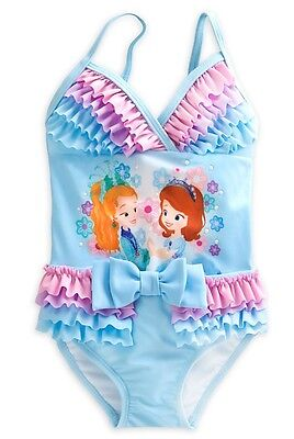 AUTHENTIC DISNEY Sofia the First Deluxe Swimsuit for Girls Size 4 NWT