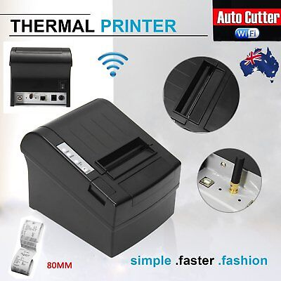 Wireless WIFI POS Thermal Receipt Printer 80mm Auto Cutter 300mm/s POS-8220 Lot