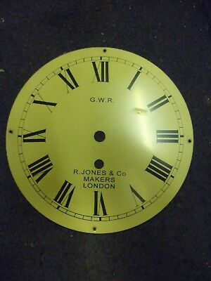 Cream Coloured 8 Inch Fusee Clock Dial Marked GWR R Jones+Co 13 Available