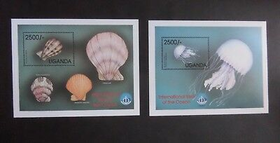 Uganda 1999 Year of Ocean fish turtle octopus MS MS2048 MNH UM unmounted mint