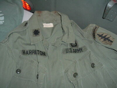 1st Pattern Jungle set named to a Col. in Special Forces w/  Beret